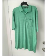 Bobby Jones pima cotton Green Celery  Mens Size XL Striped Golf shirt NWT - $20.29