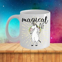 Magical AF Mug Unicorn Funny Rude Gift for Her Mom Coworker Coffee Cup Ceramic image 2