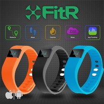FitR™ Pedometer Fitness Tracker Calorie Counter Smart Watch Bracelet Blu... - $9.09