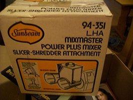 Sunbeam Mixmaster Mixer Power Plus Mixer Slicer-Shredded Attachment #94-351 - $69.25