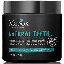Mabox Activated Charcoal 100% Natural Teeth Whitening Powder. Freshens B... - $10.99