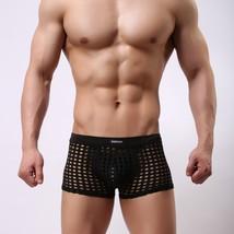 Black sexy gay mens mesh holes fishnets panties underpants underwear - $15.00