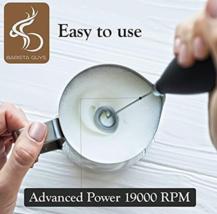 Coffee Milk Frother Set Electric Handheld Milk Foam Maker 16 Latte Art S... - $30.01 CAD