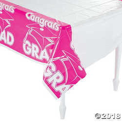Primary image for  Fun Express Hot Pink Congrats Grad Plastic Tablecloth