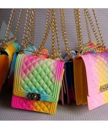 Jelly Bag for Women Fashion 2020 Colors, Black,White,Blue,Rainbow - $25.99