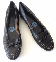 Etienne Aigner e-Doreen Dark Brown Leather Slip On Penny Loafers Shoes Sz 7.5 - $39.99