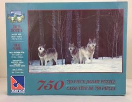 Timberwolves Jigsaw Puzzle 750 pc True North Winter Nova Scotia SURE LOX... - $9.85
