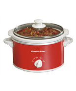 Proctor Silex Portable Oval Slow Cooker, 1.5-Quart- Red - $46.35