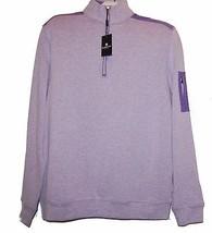 Bugatchi Light Purple Men's Half Zip Cotton Sweater Shirt Size M NEW - $128.65