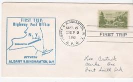 FIRST TRIP H.P.O. ALBANY & BINGHAMTON NY SEPT 27 1952 TRIP 2 - $1.78