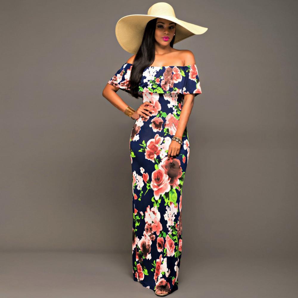Ruffle Off Shoulder Maxi Dress At Bling Brides Bouquet Online Bridal Store image 10