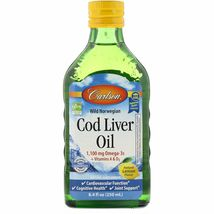 Wild Norwegian Cod Liver Oil, Natural Lemon Flavor, 1,000 mg , 8.4 fl oz... - $32.99