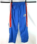 Vtg 90s Starter Pants KU Jayhawks Red White Blue Track Exercise Basketba... - $19.79
