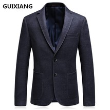 "GUIXIANG 2017 autumn new style blazer men""s business casual suits men si... - $104.70"