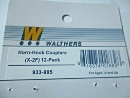Walthers  #933-995 Horn - Hook Couplers (X-2F) 12 per Pack  HO-Scale image 2