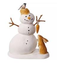 HALLMARK 2017 WINTER WHITE SNOWMAN Ornament NEW Marjolein Bastin ⛄️ SHIP... - $39.95