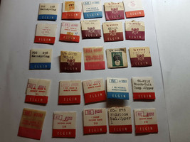 25 VINTAGE PACKAGED ELGIN WATCH PARTS AND HANDS FOR YOU TO USE FOR RESTO... - $87.32