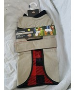 Workwear Jacket for Dogs New w Tag Large Dickies Tan w Buffalo Plaid Lining - $29.69
