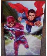Justice League Superman vs Flash Glossy Art Print 11 x 17 In Hard Plasti... - $24.99
