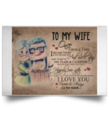 Carl And Ellie To My Wife I Love U Once Upon A Time Satin Landscape Poster - $20.00+