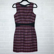 Anthropologie Hutch Size 4 Geometric Square Shift Dress Black Red Pink Gray - $69.95