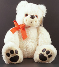 Marriott Hotels Plush Teddy Bear Toy Cream with Red Ribbon & Tag - $14.99