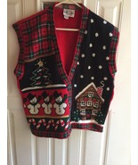 ugly Christmas sweater vest by Heartworks size M  - $9.90