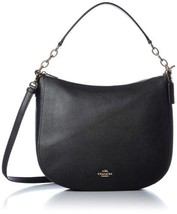 Coach Womens Polished Pebbled Leather Chelsea 32 Hobo (Black Gold) - $167.31