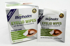 Blephadex Eyelid Wipes For Blepharitis and Demodex With Tea Tree Oil Fresh 2020 - $36.10