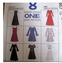 McCalls Sewing Pattern 7957 Size Misses 6, 8,10 Misses Dress in Two Links - $10.78