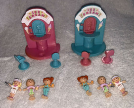 2 Sets Polly Pocket Ice Cream Stand COMPLETE with 6 dolls 1995 Bluebird ... - $64.34
