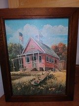 Bob Bates 1902 San Gabriel School Frame Features Beautiful Knotty Pine Art Work  image 1