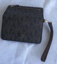 Michael Kors SIGNATURE Snap Closure Brown-Gold  Mk Wallet Wristlet - £30.22 GBP