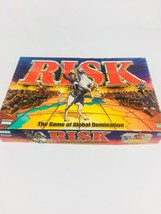 1998 RISK Board Game of Global Domination Strategy Boardgame Damaged Lid - $16.10