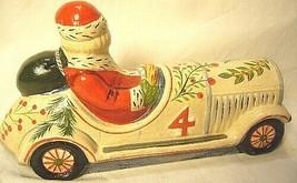Vaillancourt Folk Art,Santa Driving a  Vintage Car  Signed by Judi Vaillancourt image 2