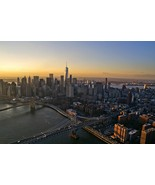 "New York City Aerial Photography Wall Decor - ""Sunset Skyline"" - $110.00"