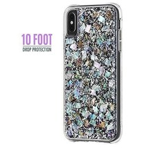 iPhone XS Max Case PC TPU Shockproof Bumper Anti Scratch Mother Of Pearl... - $65.05