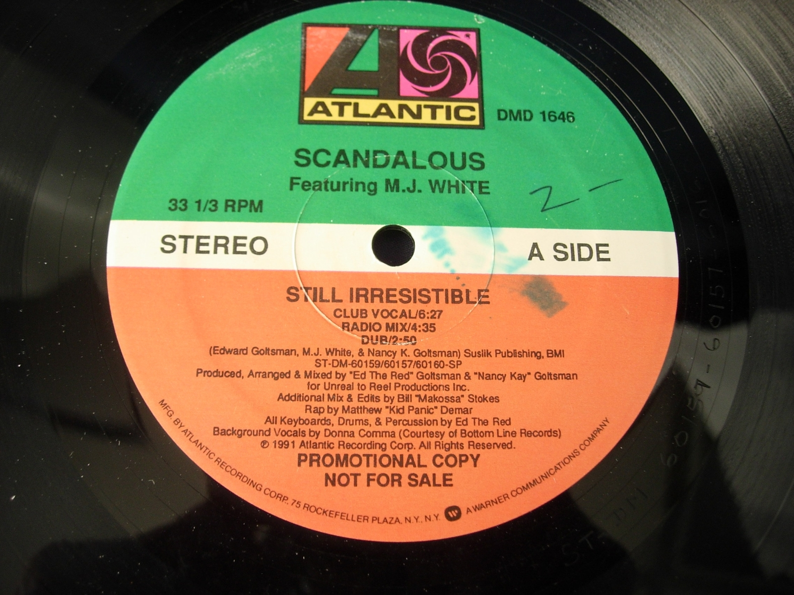 Scandalous - Still Irresistible - Atlantic Records DMD 1646 - PROMO