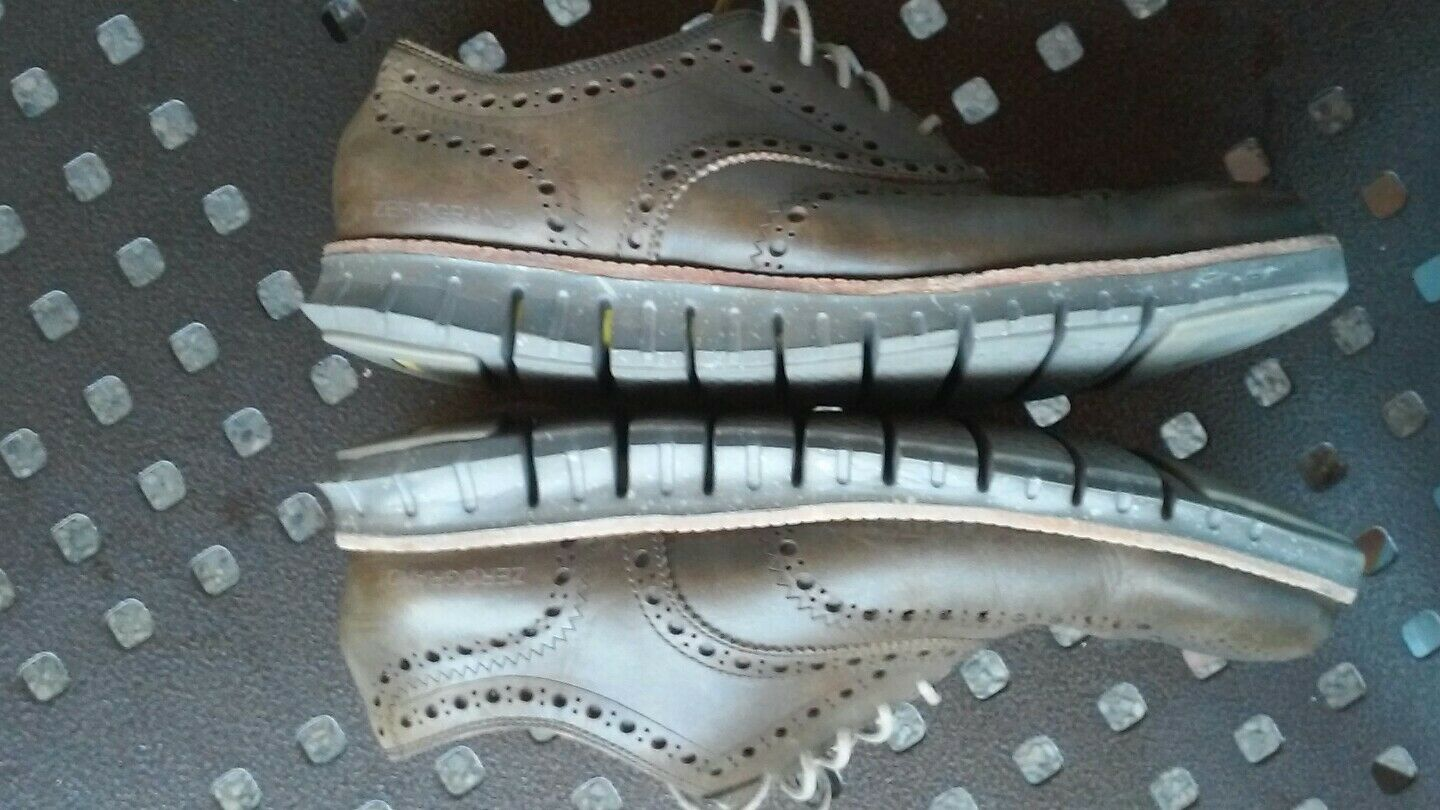 Cole Haan Zerogrand Wing Leather Oxfords - Men's Size 9.5 M - brown
