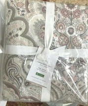 Pottery Barn Jordana Duvet Cover Blush Queen Floral Neutral No Sham - $89.27
