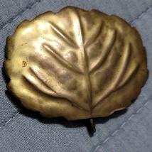 Vintage Leaf Scarf Clip Slide - 18K Gp Etched On Back - $2.99
