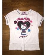 ! Hello kitty white graphic tee shirt top size 7-8   10-12 - $3.96