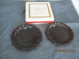 Set of 2 Avon Cape Cod RUBY RED dessert Plates(2sets available - $15.99