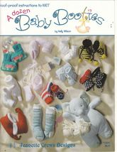A Dozen Baby Booties Knit  Patterns Socks Novelty Jester Fish - $9.00
