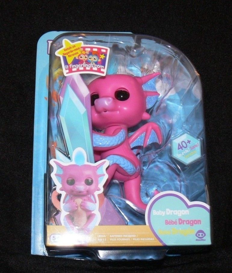 Fingerlings Baby Dragon SANDY  Pink & Blue WowWee New Hot Toy