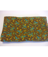 Multi Color Paisley Cotton Fabric 29 inches x 47 inches - $11.87