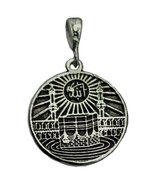 Real Sterling silver 925 Holy Kaabah Pendant Kaaba Allah Islamic stering... - $30.15