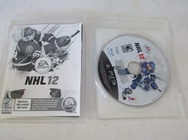 VIDEO GAME- USED--PLAYSTATION 3 NHL 12  DISC MANUAL ON DISC & CASE PS3 - $4.89