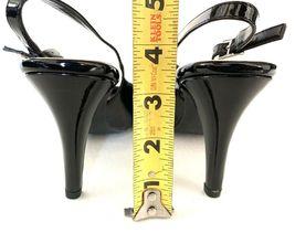 FRANCO SARTO Harla Black Patent Leather Slingback Pumps Heels SZ 8.5M image 8