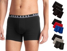 Hugo Boss Men's Natural Pure Cotton 3 Pack Underwear Boxers Trunks 50325383